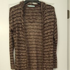 NWOT Maurices Striped Hooded Duster